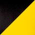 Экокожа черно-желтая